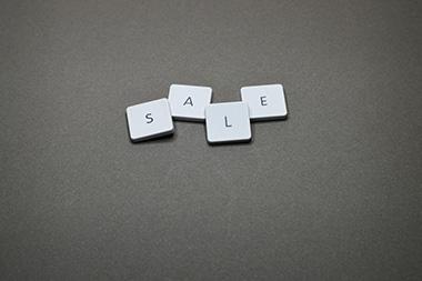 """Letter tiles spelling """"Sale""""   SV Partners"""