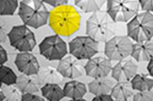 1 highlighted umbrella graphic